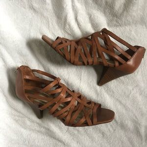 INC | Strappy Brown Heels